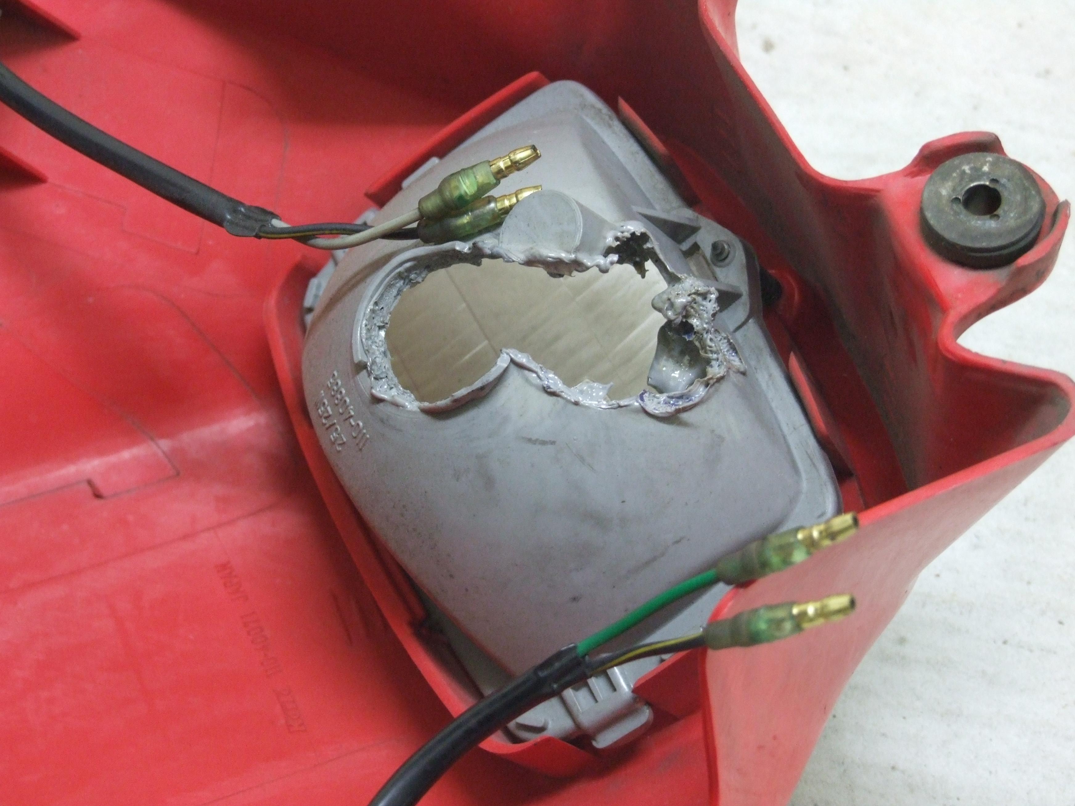 KSRヘッドライト修理