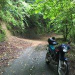 KLE250:雨なのでアネーロで林道