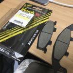 KLE250アネーロ:ブレーキパッド交換