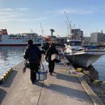 東京湾で初の船釣り